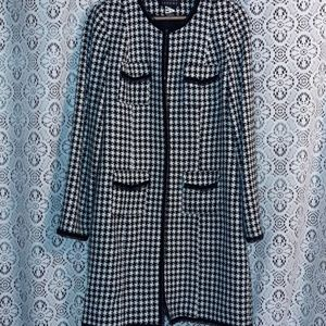 SPENCER JEREMY BLACK AND WHITE GINGHAM JACKET